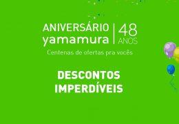 YAMAMURA 48 ANOS: MAIOR ENDEREÇO NACIONAL DE ILUMINAÇÃO COMEMORA ANIVERSÁRIO COM VÁRIAS OFERTAS